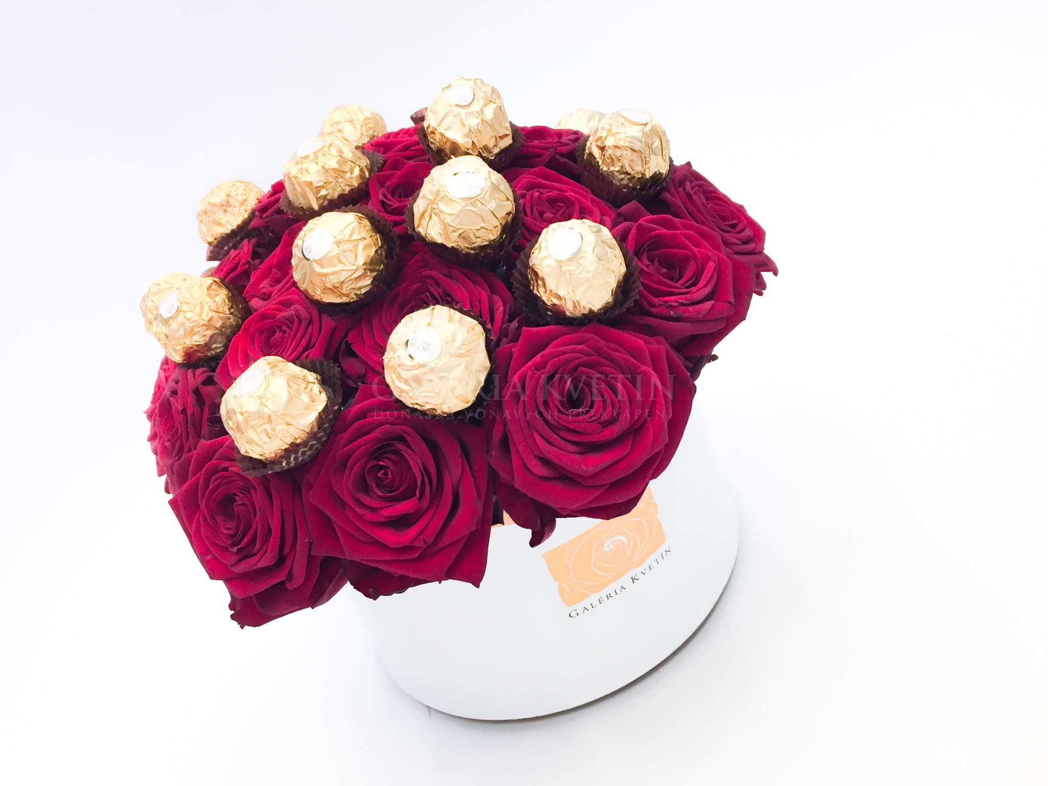 dc65f6767 Kvetinový box SLADKÉ FERRERO GRAND | Galéria kvetín