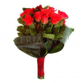 Zázračná kytica z červených ruží
