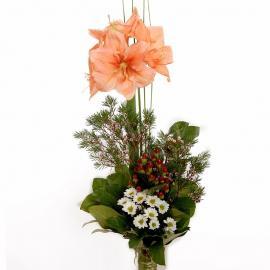 Kytica Profesor z amarylisu a chryzantémy
