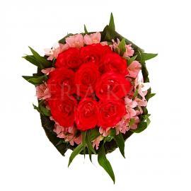 Kytica Bozk z ruží a alstromérií