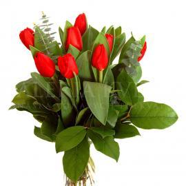 Kytica Červený tulipán z tulipánov