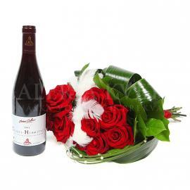 Darčekový set Štandard zložený z kytice a vína