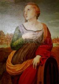 Katarína Alexandríjska, pocta Rafaelovi.