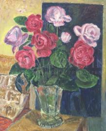 Ruže v sklenenej váze