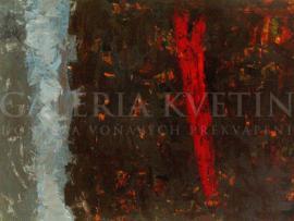 Krajina IV, akryl, 100x75 cm