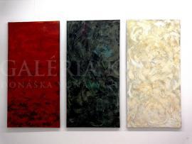 Meditácia I - III (triptych) akryl, 210x140 cm