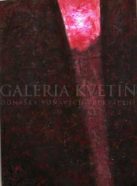 Meditácia IV, akryl na dreve, svietiaci obraz, 92x110 cm