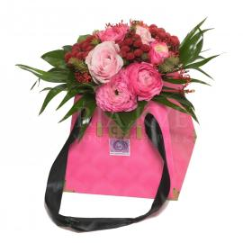 Pinky Flower Bag
