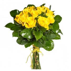 Kytica ruží Žltý tucet zo žltých ruží