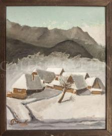 Chalúpky v snehu