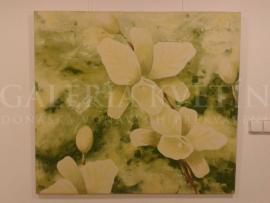 Orchidea v zelenom.( Nežnosť chvíle.)