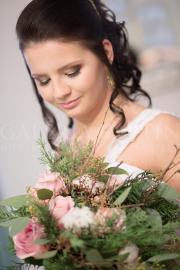Svadobné fotenie ( svadobná kytica Lesná zima )