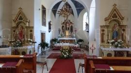 Kvetinová výzdoba kostola Loimersdorf, Rakúsko