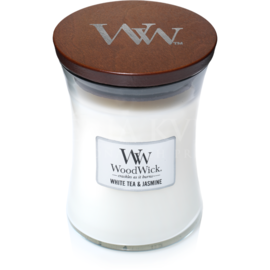 Candle Woodwick® Medium Jar White Tea & Jasmine