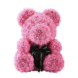 rose teddy bear pink