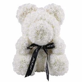 Rose Teddy Bear white