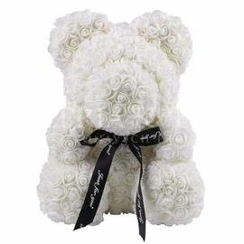 Rose Teddy Bear - White (