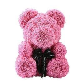 Rose Teddy Bear - Pink (