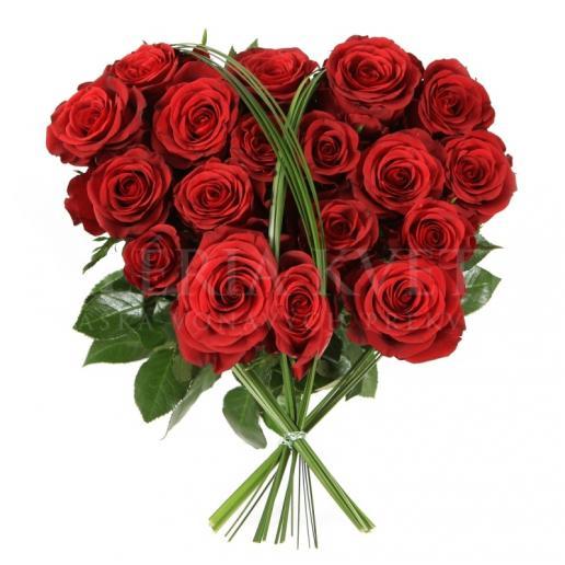 Kytica Srdce lásky z nádherných červených ruží