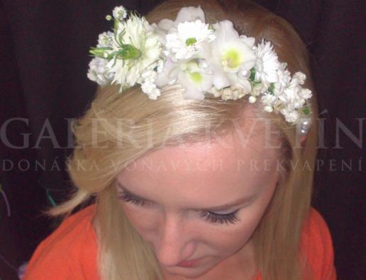 Čelenka do vlasov Biely variant