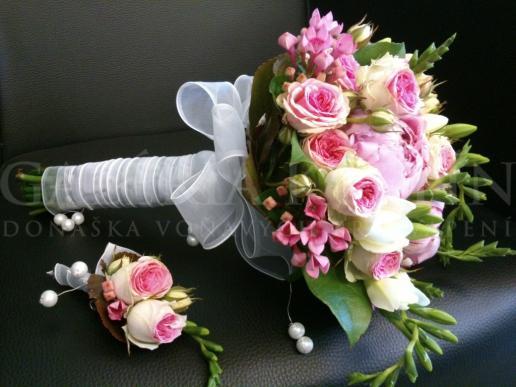 Svadobná kytica Cukríkovo-zvodná