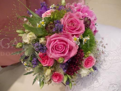 Svadobná kytica Ružové retro