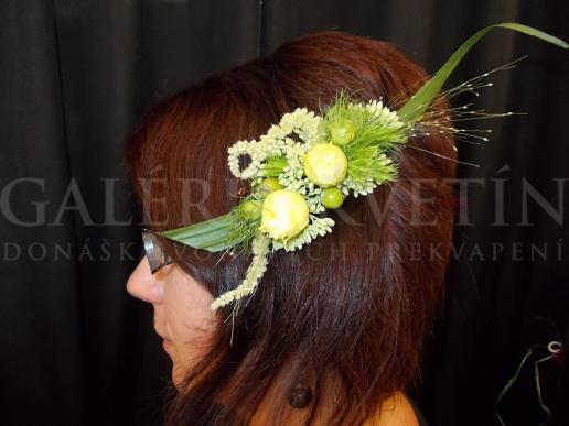 Dekorácia do vlasov Zelený šperk