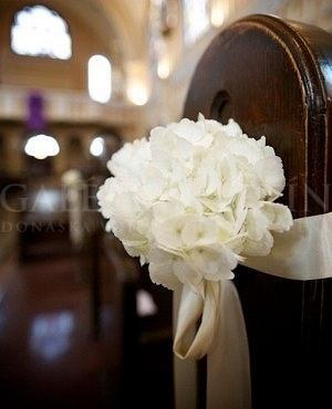 Dekorácia Biela hortenzia