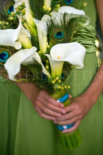 Svadobná kytica Elegantný páv