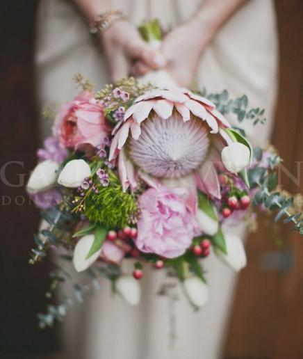 Svadobná kytica Exkluzívna protea