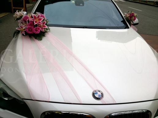 Set na auto Ružová ľalia