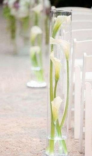 Kvetinová dekorácia Jednoduchosť cally
