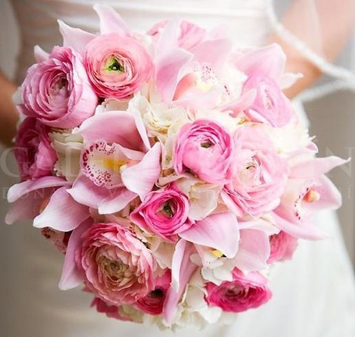 Svadobná kytica Pink passion