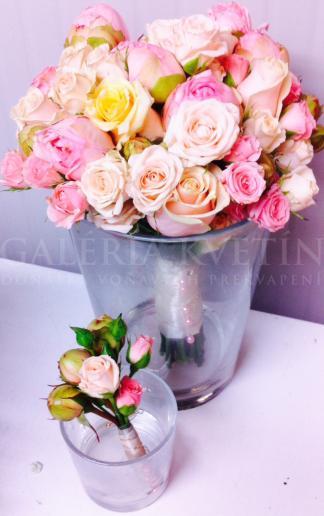 Svadobná kytica Sladké ruže