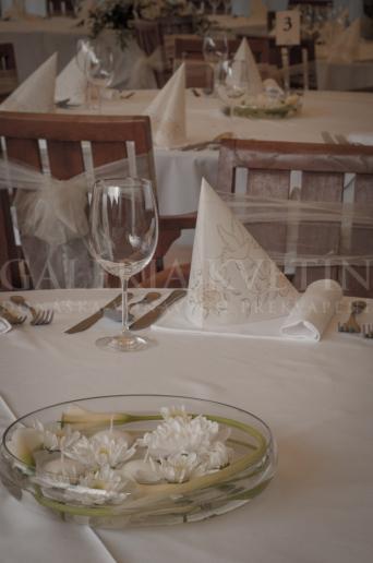 Svadobná malá ikebana na stôl Elegancia