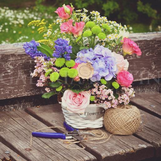 Letný kvetinkový aranžmán