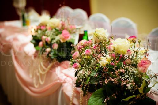 Ikebana na hlavný stôl Sweet Doll