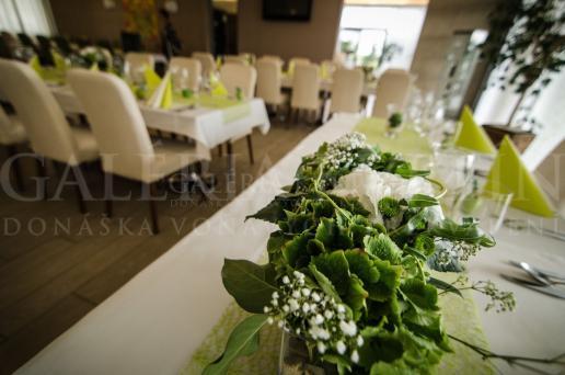 Ikebana na hlavný stôl Lesná breza