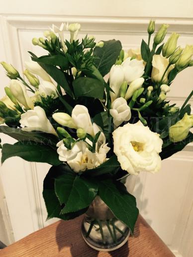 Váza plná kvetov Nevestina túžba