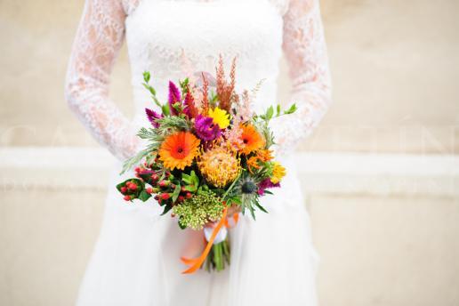 Svadobná kytica Farebná jeseň
