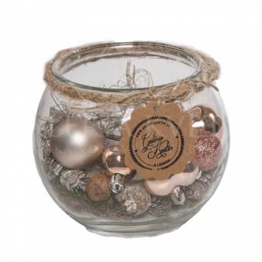 Svietnik Vianočná guľa na čajovú sviečku