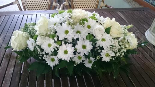 Ikebana na hlavný stôl French Beauty