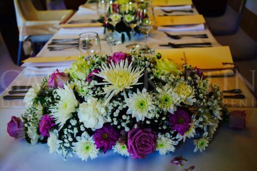 Ikebana na hlavný stôl Hradná pani