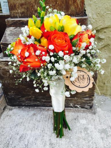 Svadobná kytica Ohnivá láska