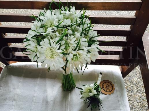 Svadobná kytica Pôvab hodvábu