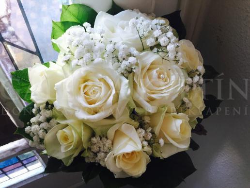 Svadobná kytica Biele lekno