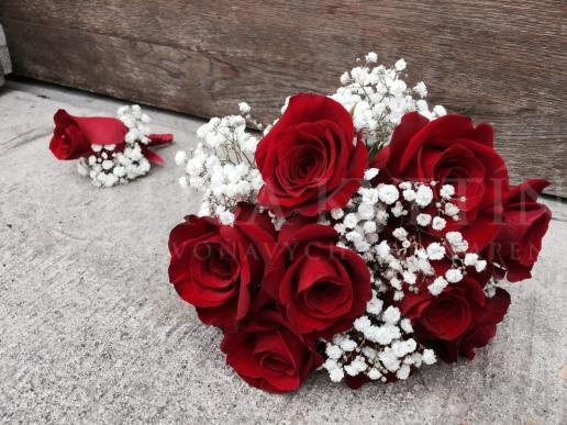 Svadobná kytica Romantická žena
