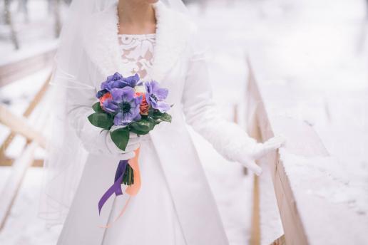 Svadobná kytica Winter Violet