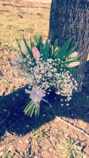 Svadobná kytica Tulipány v závoji