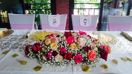Ikebana na hlavný stôl Pre princeznú